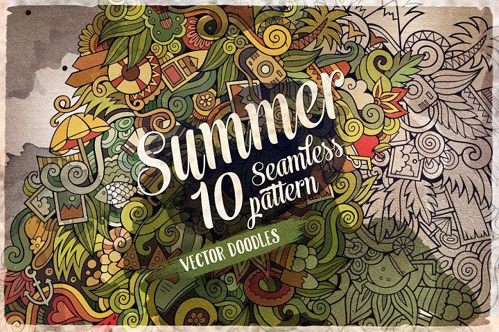 10 Summer Doodles Patterns