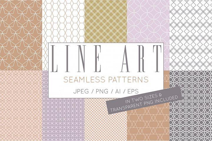 Simple Elegant Line Art Pattern Set