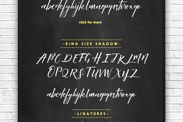 King Size Font - Free Font of The Week Design 1