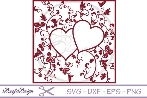Heart Monogram SVG files Floral