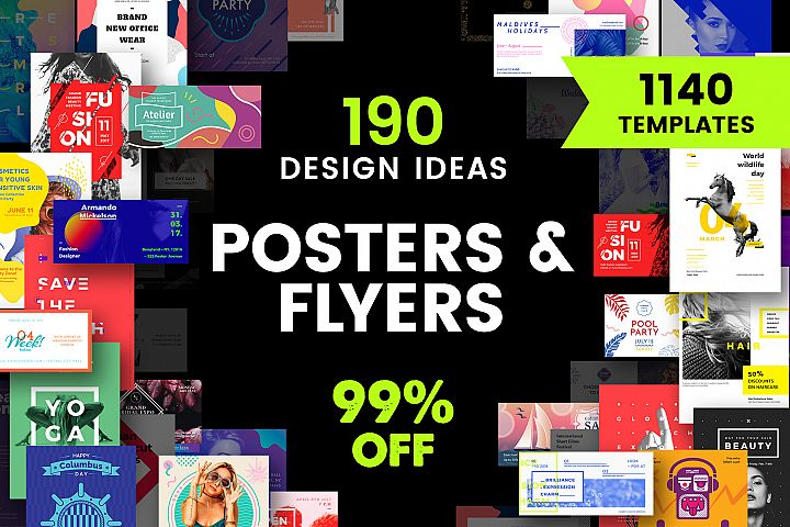 Poster & Flyer Design Templates Bundle SALE
