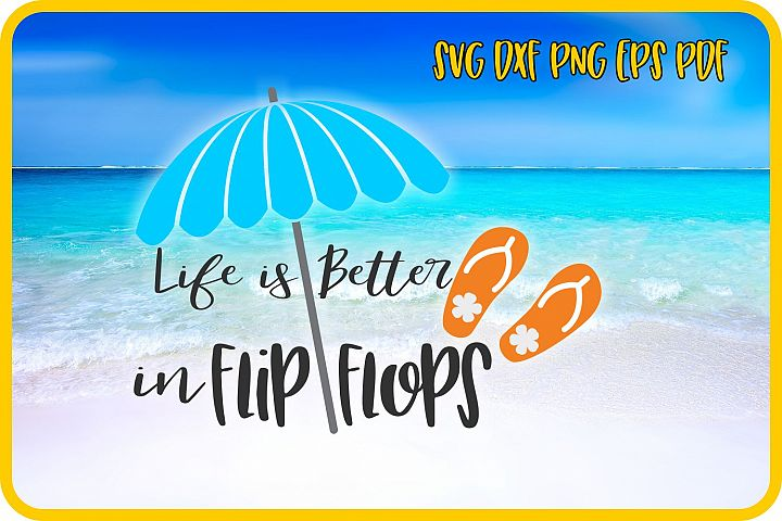 flip flops, beach svg, summer svg, svg cricut