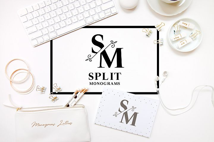 KIT WITH SPLIT ELEGANT MONOGRAMS LETTERS