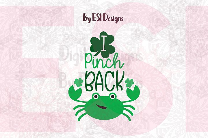 I Pinch Back | St Patricks Day Quote Design