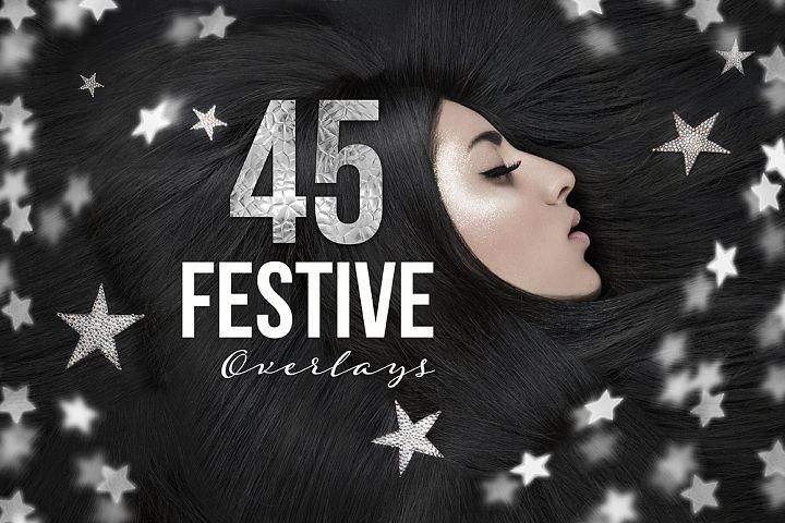 45 Festive Overlays