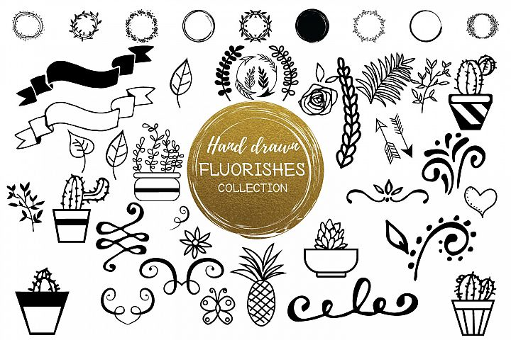 Hand Drawn Flourishes Collection