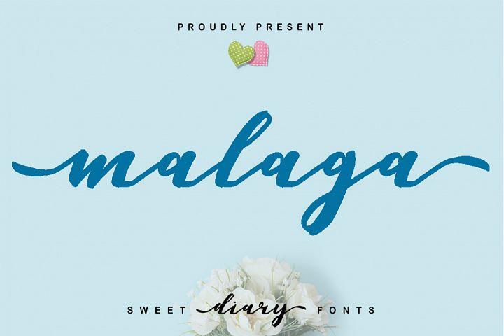 Malaga Diary | A Sweet Diary Fonts