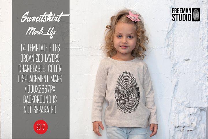 Kids Sweatshirt Mock-Up Vol.2 2017