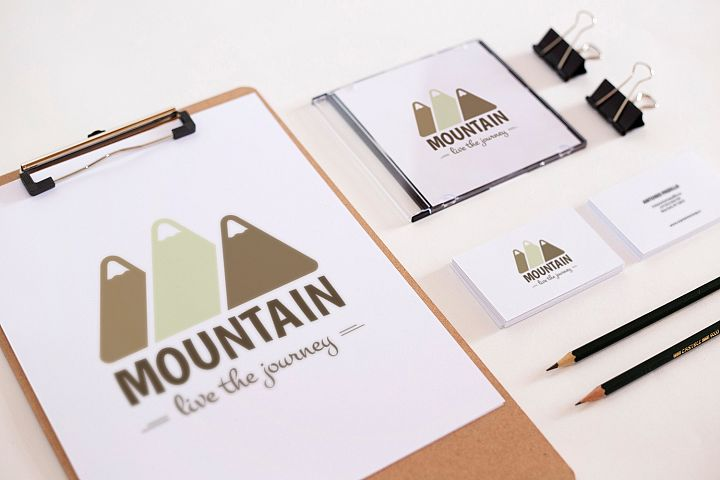 Mountain Logo Template example 2