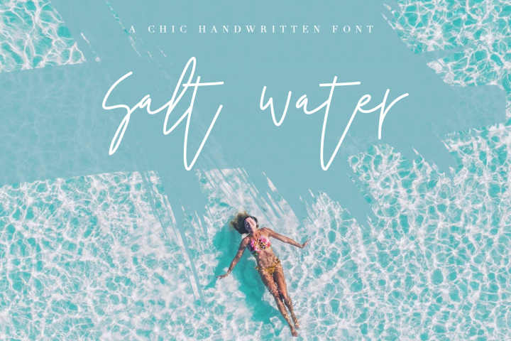 Salt Water - Handwritten Chic Font