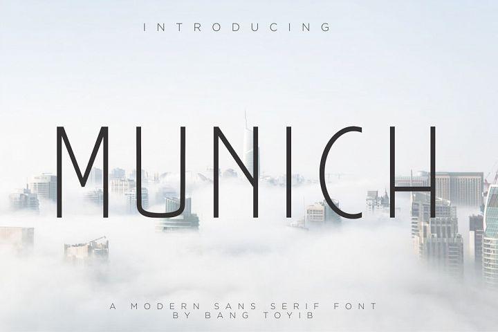 MUNICH - MODERN SANS SERIF