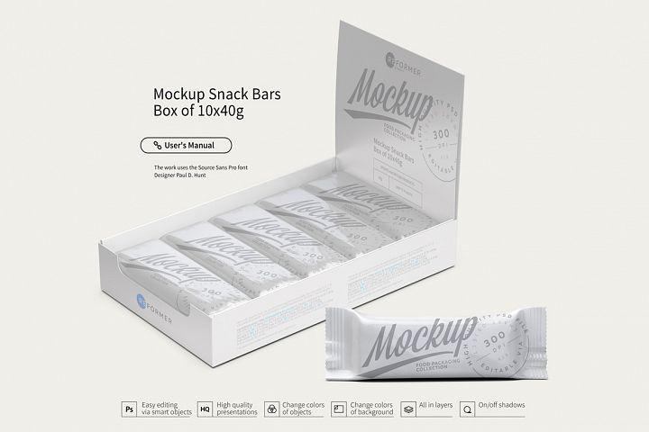 Mockup Snack Bars Box of 10x40g