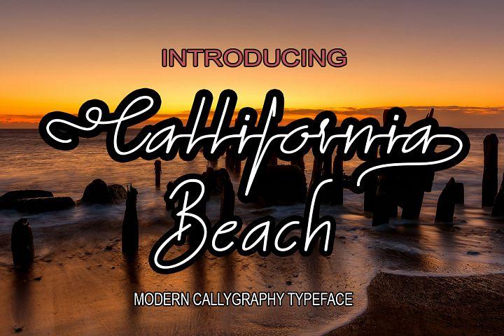 California beach new font duo