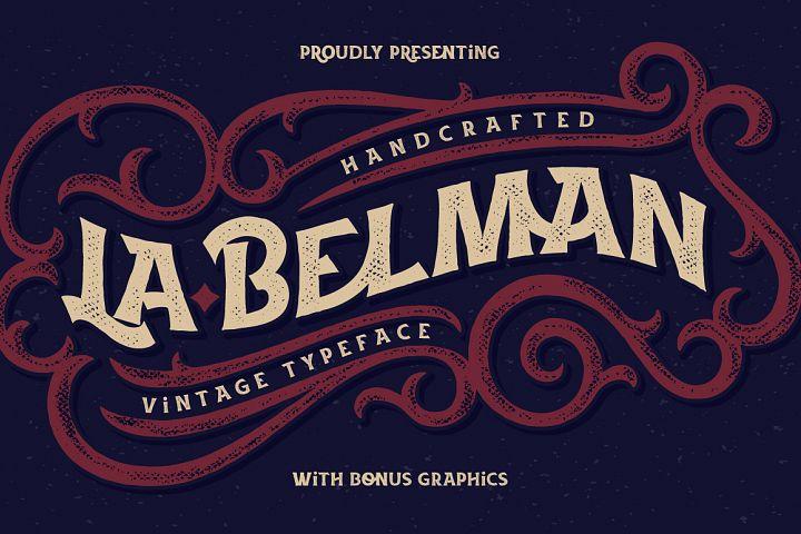 La Belman font & bonus