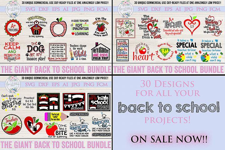 Back To School Bundle of 30 SVG Cut Files