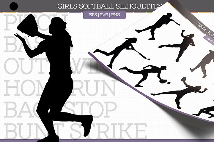 Softball Silhouettes
