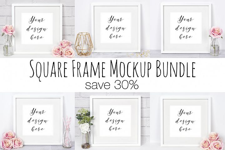 Square Frame Mockup Photography Bundle