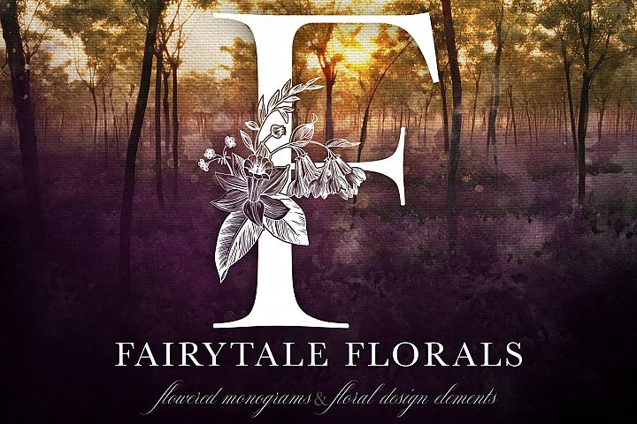 Fairytale Florals Monogram Set