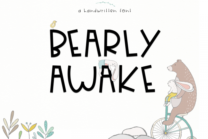 Bearly Awake - Handwritten Font