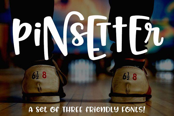 Pinsetter: three fun fonts!