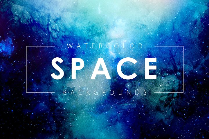 Space Watercolor Backgrounds - Free Design of The Week