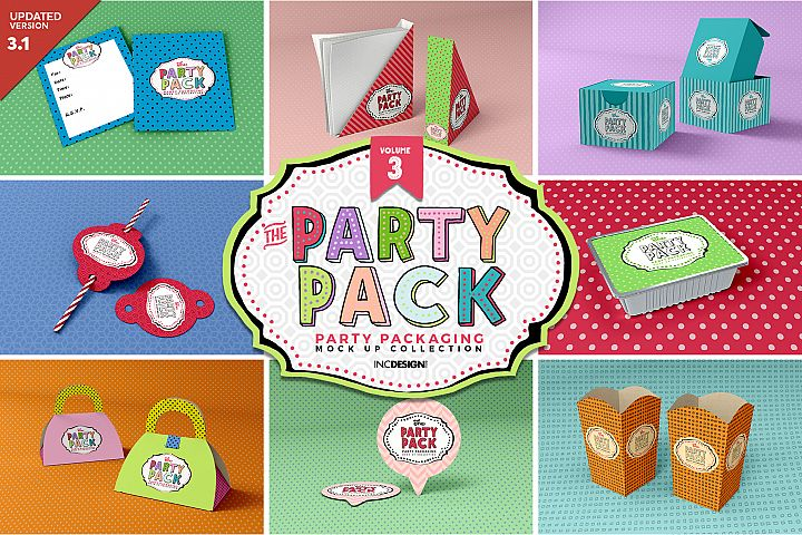 The Party Pack Mockup Collection VOLUME 3