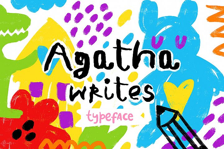 Agatha Writes - Hand Drawn Typeface