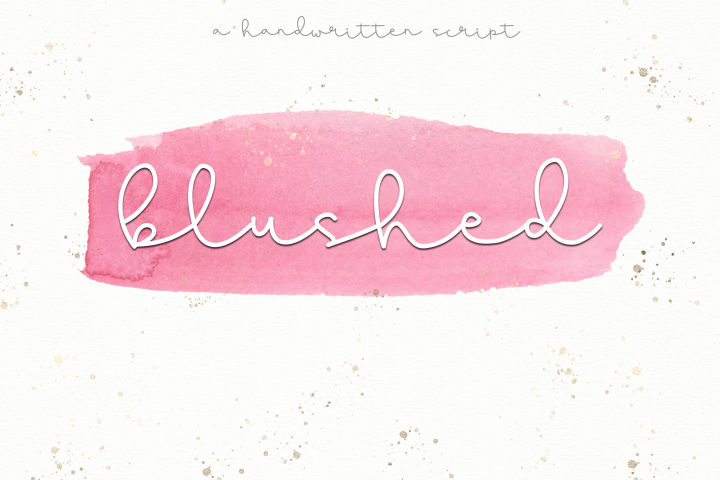 Blushed - A Cute Handwritten Script