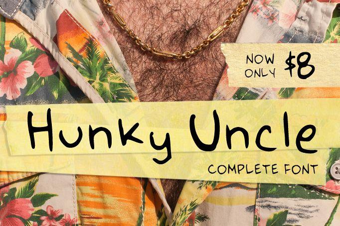 Hunky Uncle Handwritten Script Font