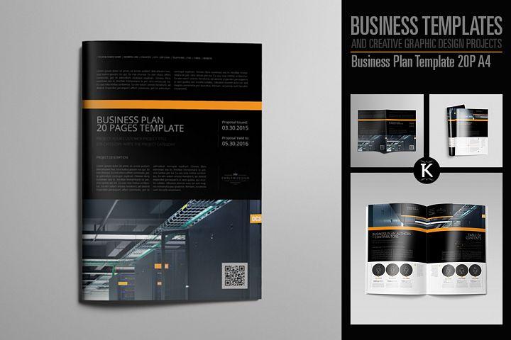 Business Plan Template 20P A4