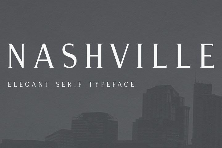 Nashville   Elegant Serif Typeface