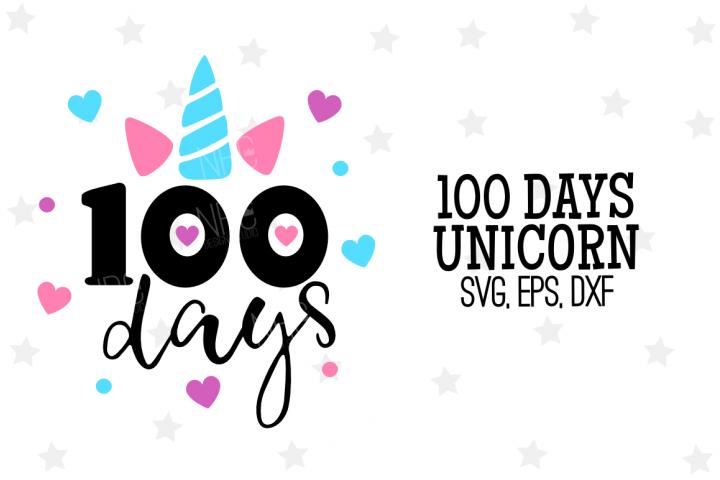 100 Days Unicorn SVG File