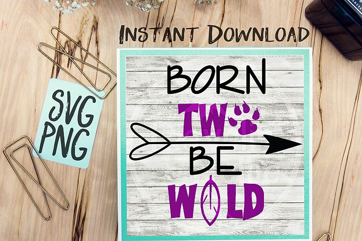 Born Two Be Wild SVG Image Design for Vinyl Cutters Print DIY Design Brother Cricut Cameo Cutout