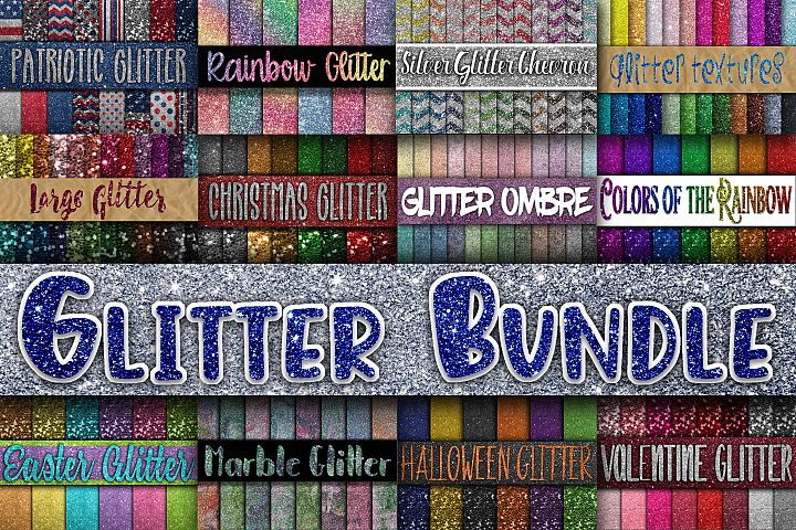 Glitter Bundle - Includes Over 200 Digital Papers - Glitter Textures