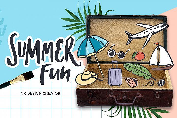 Summer fun - ink design creator
