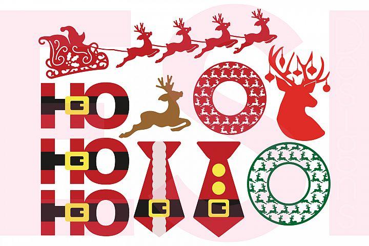 Christmas - Santa and Reindeer Design Set