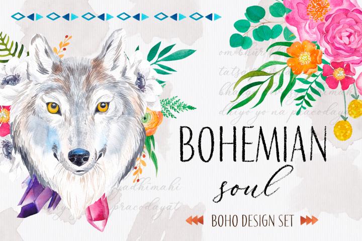 Bohemian soul - boho design set