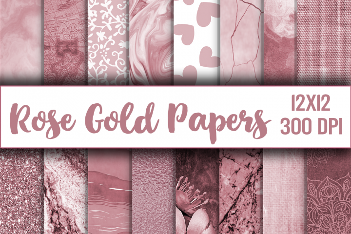rose gold digital paper, texture, scrapbook paper, printable