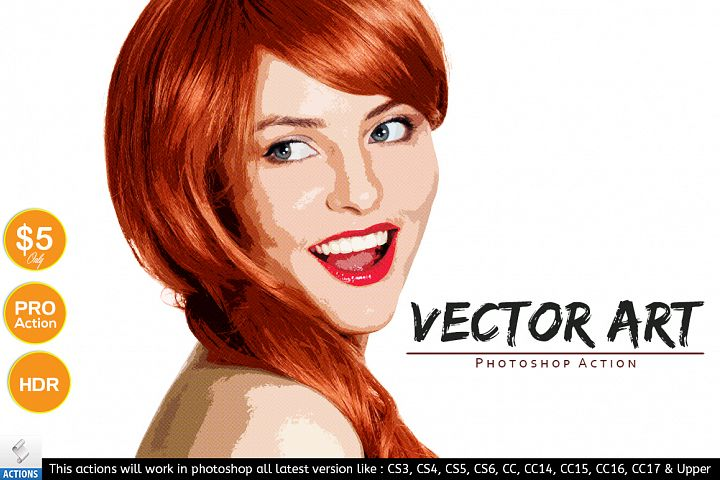 Vector Art - Photoshop Action