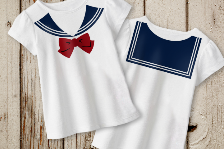 Faux Sailor Yoke with Bow SVG File Cutting Template