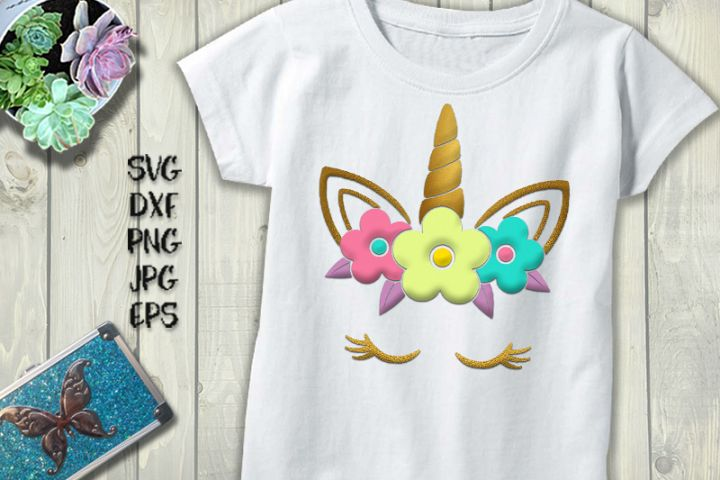 Unicorn head SVG/DXF/PNG/EPS/JPG/PDF