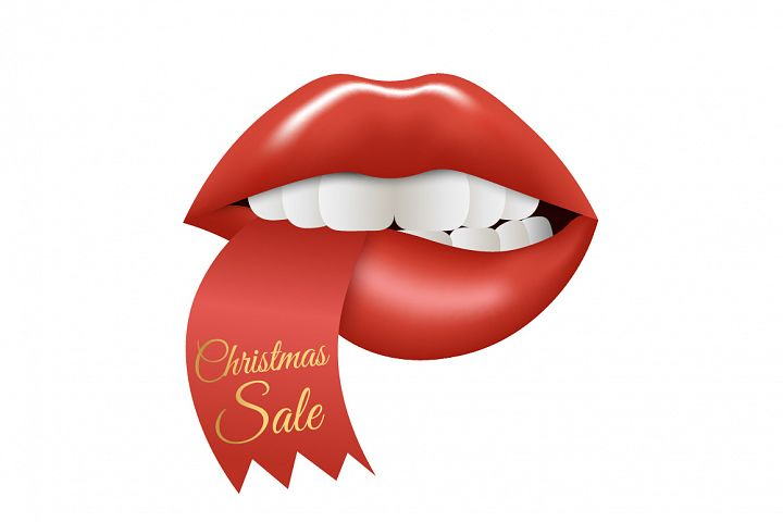 Christmas Sale. Lips