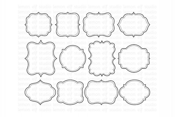 Fancy Frames-Digital Clipart (LES.CL31)