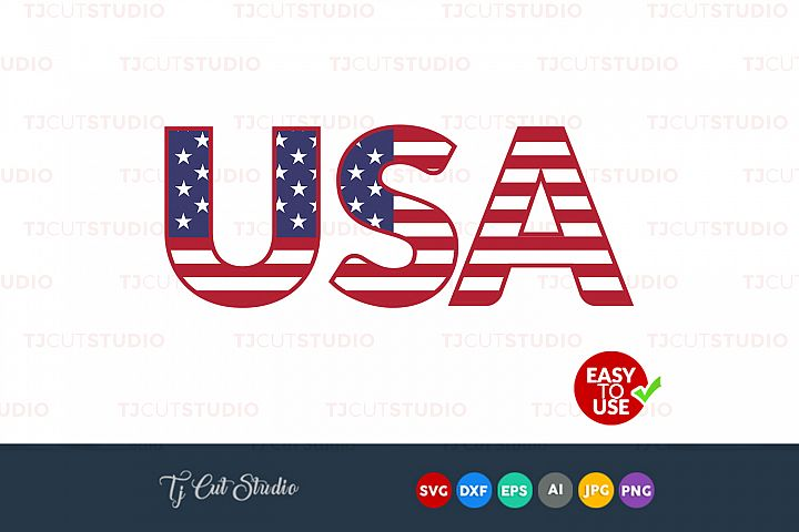 USA svg, united states svg, 4th of July svg, Files for Silhouette Cameo or Cricut, Commercial & Personal Use.