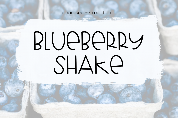 Blueberry Shake - Handwritten Font