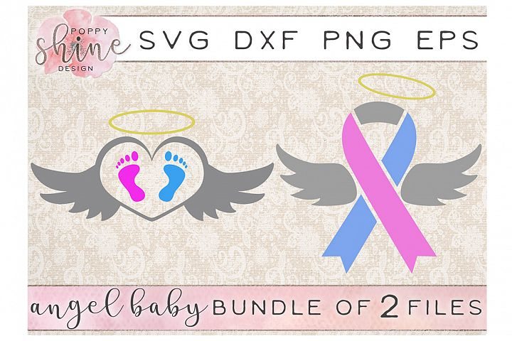 Angel Baby Bundle of 2 SVG PNG EPS DXF Cutting Files