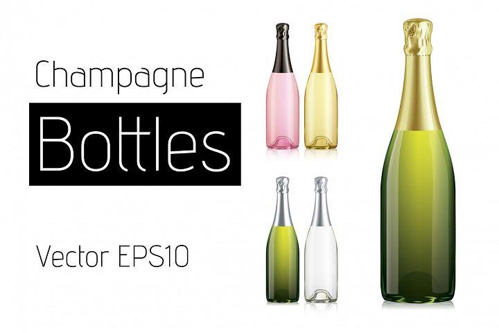 Vector Champagne Bottles
