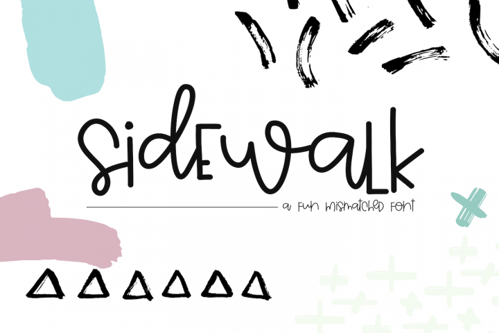 Sidewalk - A Fun & Mismatched Font