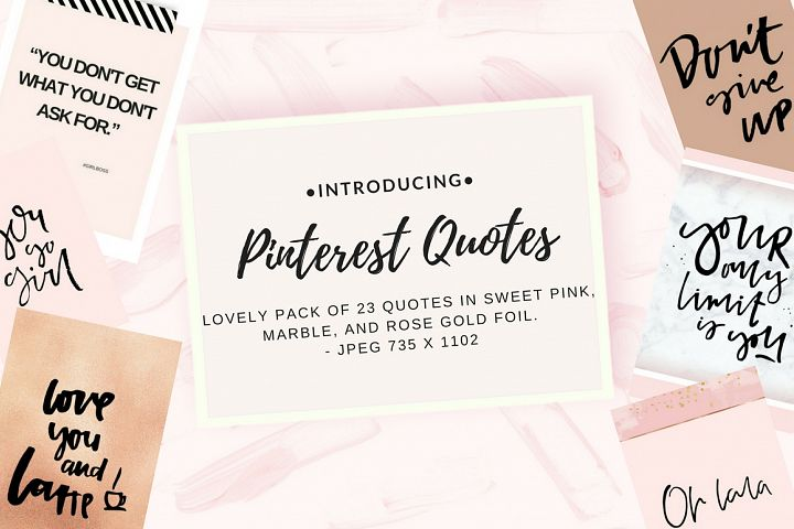 Pinterest quotes pack