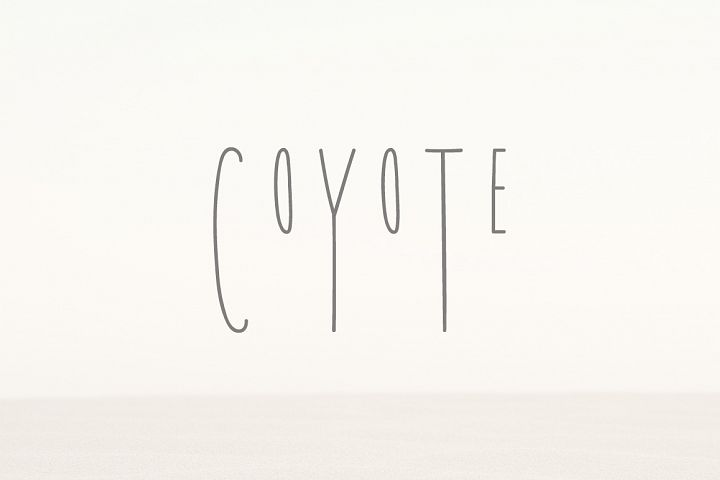 Coyote   A Playful Font